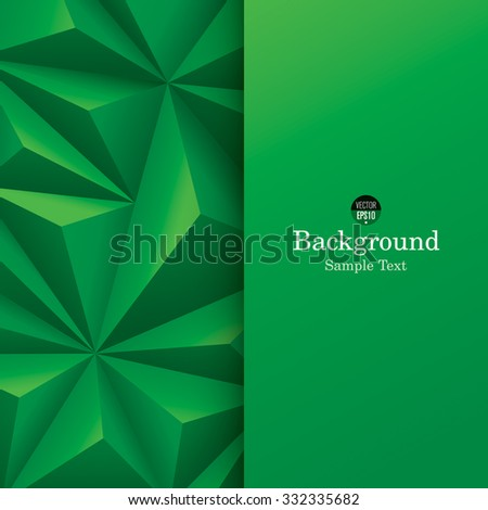 Green abstract background vector. Can be used in cover design, book design, website background, CD cover or advertising. - stock vector