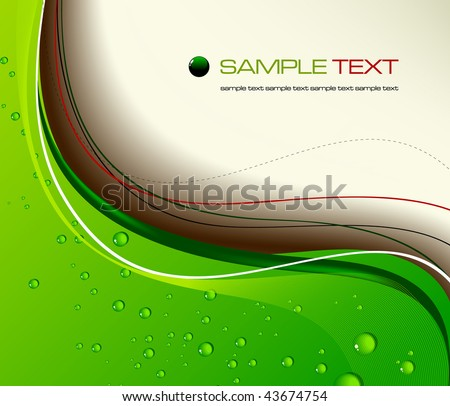 Green abstract background - vector illustration - stock vector