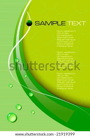 green abstract background - vector illustration - jpeg version in my portfolio - stock vector