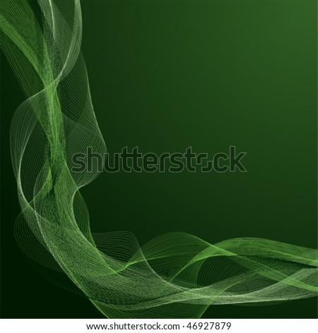 Green abstract background, with space for text