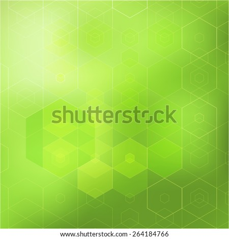 Green abstract geometric background - stock vector