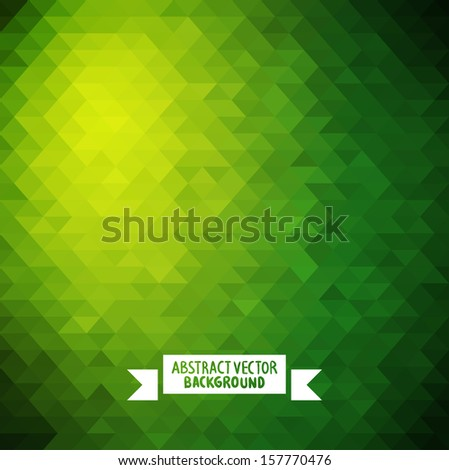 green Abstract geometric background. colorful Abstract background illustration for your design triangle  - stock vector