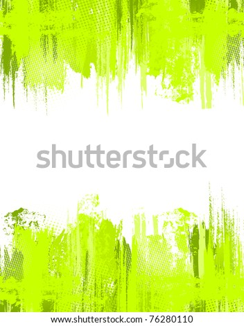 Green abstract grunge background. Vector template - stock vector