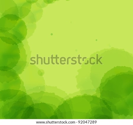 Green abstract light background vector - stock vector