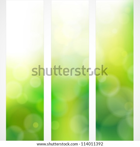 green abstract light background. Vector illustration - stock vector