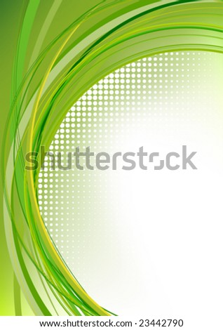 green abstract motion brochure
