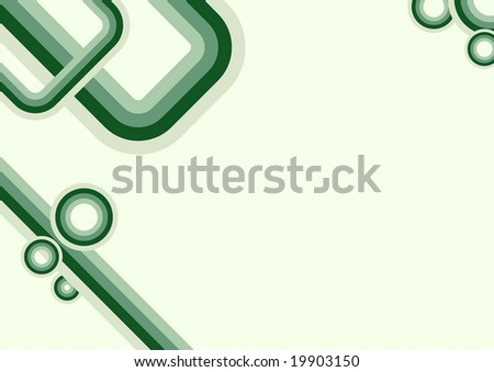 Green abstract trendy geometric wallpaper - stock vector