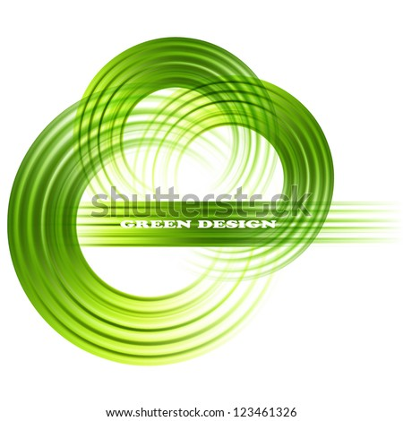 Green abstract vector background - stock vector