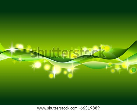 green abstract vector background - stock vector