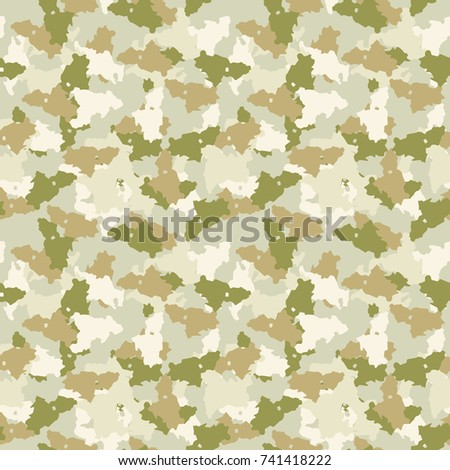 Green And Beige Desert Camouflage Is A Masking Seamless Pattern That Can Be Used As Sand