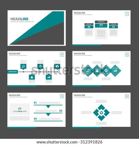 Green and black Multipurpose infographic Presentation template flat design set for advertising marketing web brochure flyer leaflet  - stock vector
