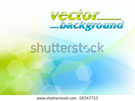Green and blue abstract background - stock vector