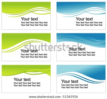 Green and blue backgrounds - stock vector