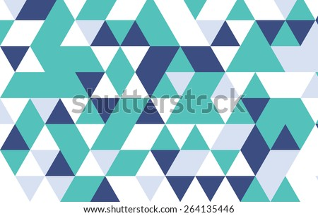 green and blue geometric pattern,triangle design template.  - stock vector