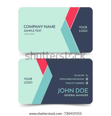 Green blue modern business card template stock vector hd royalty green and blue modern business card template vector creative corporate identity card design eps10 reheart Images