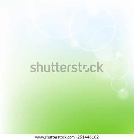Green And Blue Pastel Poster With Gradient Mesh, Vector Illustration - stock vector