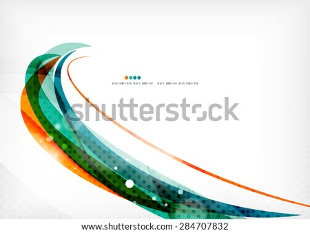 Green and orange lines modern abstract background. Abstract template - stock vector