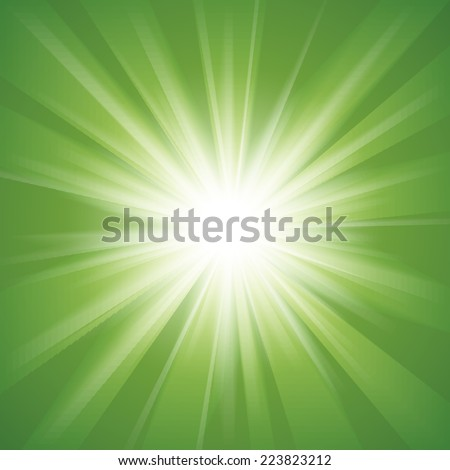 Green and white abstract magic light background. Vector illustration for your majestic design. Element for web design. - stock vector