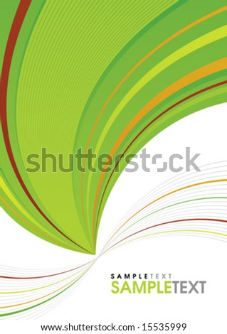 Green and white background, twist color line - stock vector