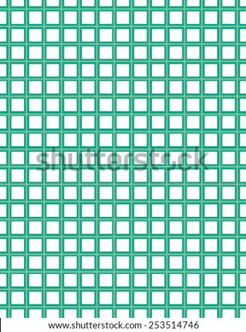 Green and white square pattern over background - stock vector