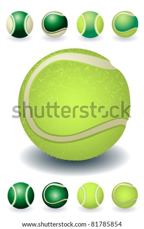 green and yellow isolated tennis-balls