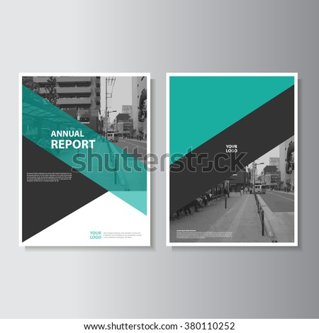 Green annual report Leaflet Brochure Flyer template A4 size design, book cover layout design, Abstract presentation templates - stock vector