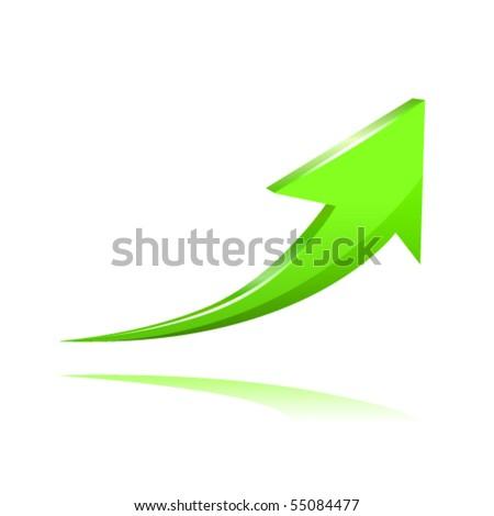 Green arrow - stock vector