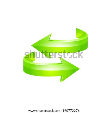 Green arrow icon. Vector - stock vector