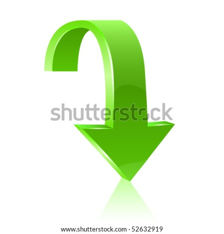 Green arrow icon. Vector - stock vector