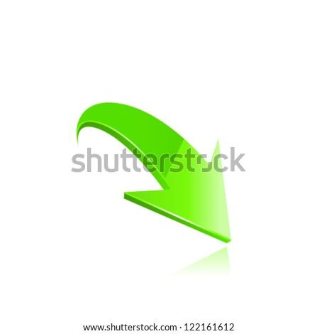 Green arrow. Vector - stock vector