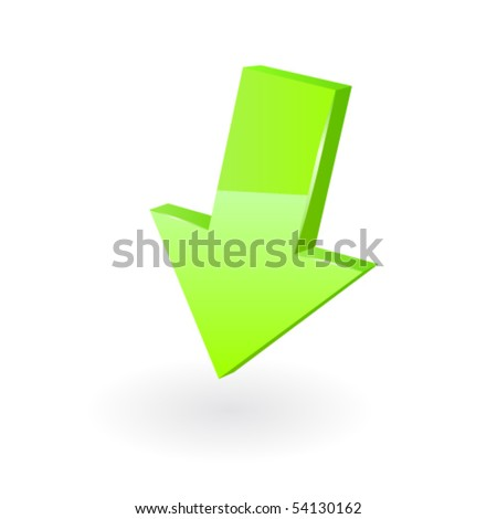 Green arrow. Vector - stock vector