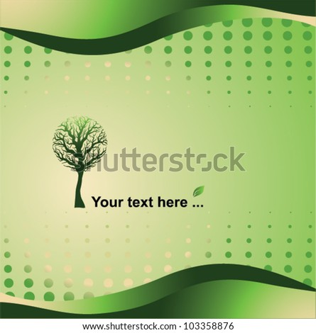 green background - eco concept, vector illustration - stock vector