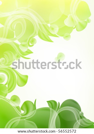 Green Background of leaves, eps10 - stock vector