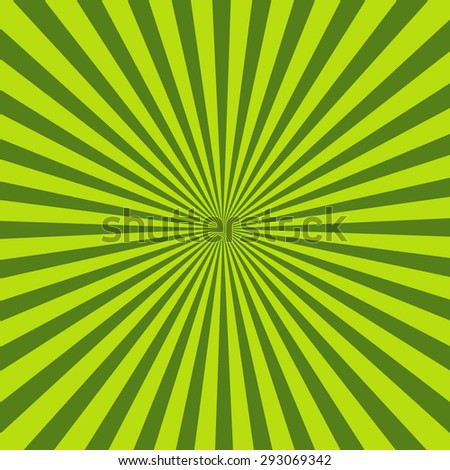 Green Background Texture With Sunburst Isolated On Green Retro Background