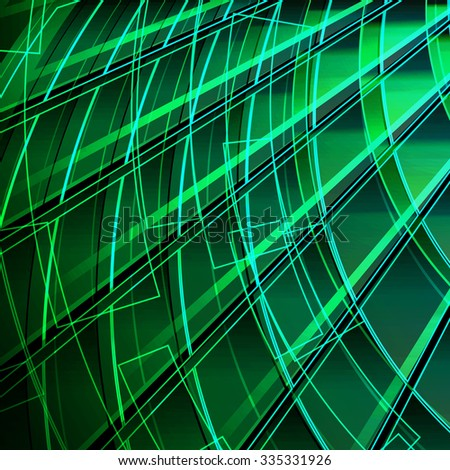 green background with line - stock vector