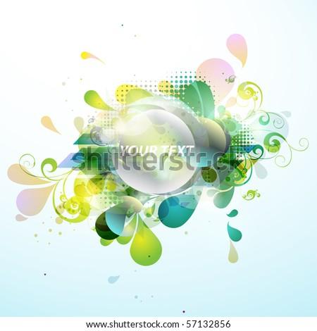 Green banner - stock vector