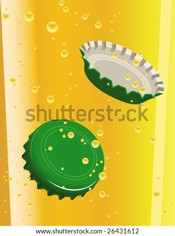 Green beer cork, vector illustration, EPS file included - stock vector
