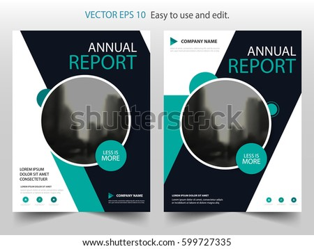 green black circle vector brochure annual report leaflet flyer template design book cover layout design