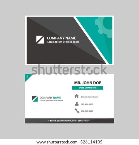 Green black multipurpose business card template stock vector hd green black multipurpose business card template flat design for company advertising introduce marketing recruitment colourmoves