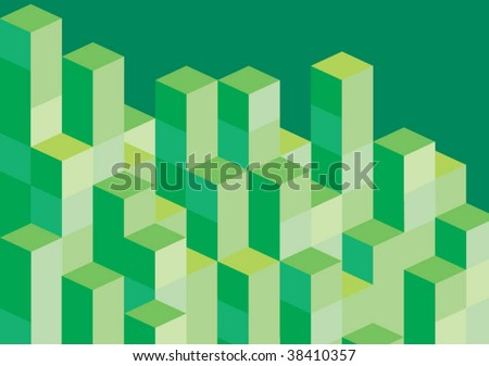 green blocks - stock vector