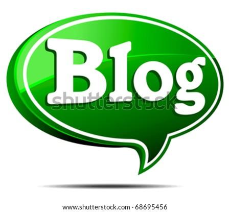 Green Blogger - stock vector