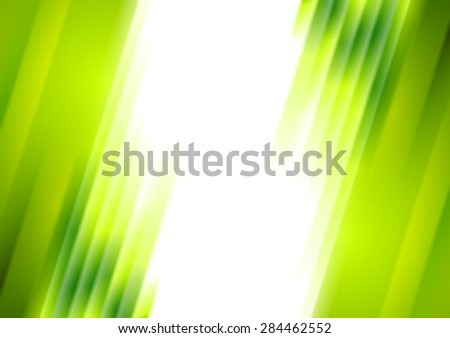 Green blurred stripes bright corporate background. Vector abstract design - stock vector