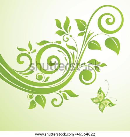 Green border - stock vector