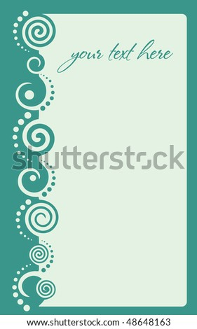 green border with curls - stock vector