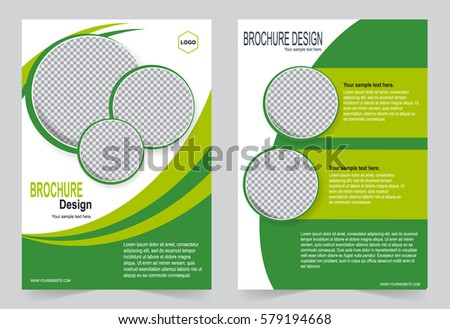 Green Brochure Template Flyer Design Abstract Stock Vector 579194668