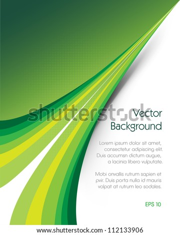Green brochure vector background. This image will download as a .eps file and can be edited with any vector editing software./Green Background Brochure - stock vector