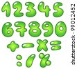 Green bubble-shaped eco numbers - stock vector