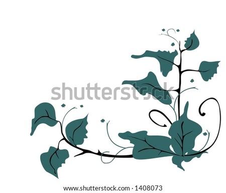 Green bushes - stock vector