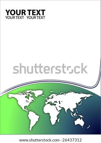 green business template vector - stock vector