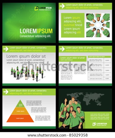 Green business Template. Vector illustration. - stock vector